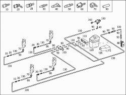 Mercedes A140 W168 - Centralny zamek nie rygluje klapki wlewu paliwa