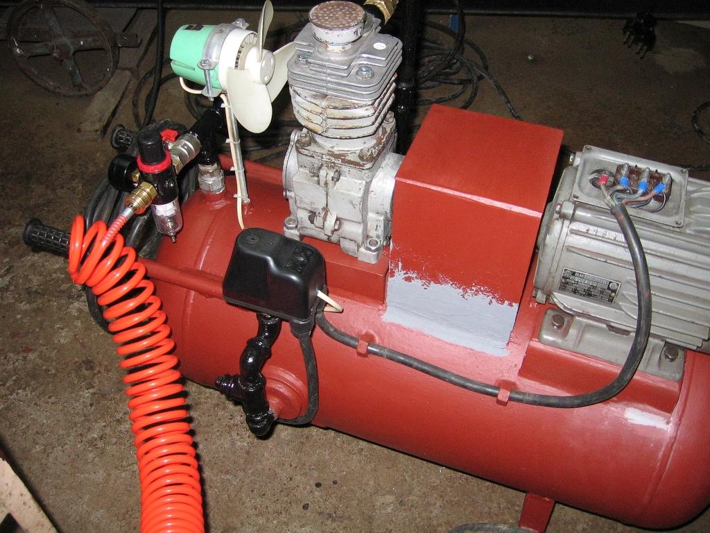 Kompresor z butli LPG 40 L  mocowanie otworu butli !