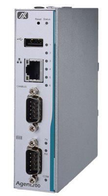 Agent200-FL-DC - mały komputer typu embedded z i.MX6 w obudowie DIN
