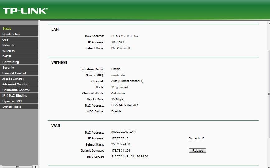 tp link tl wr 740n konfiguracja wireless z aster