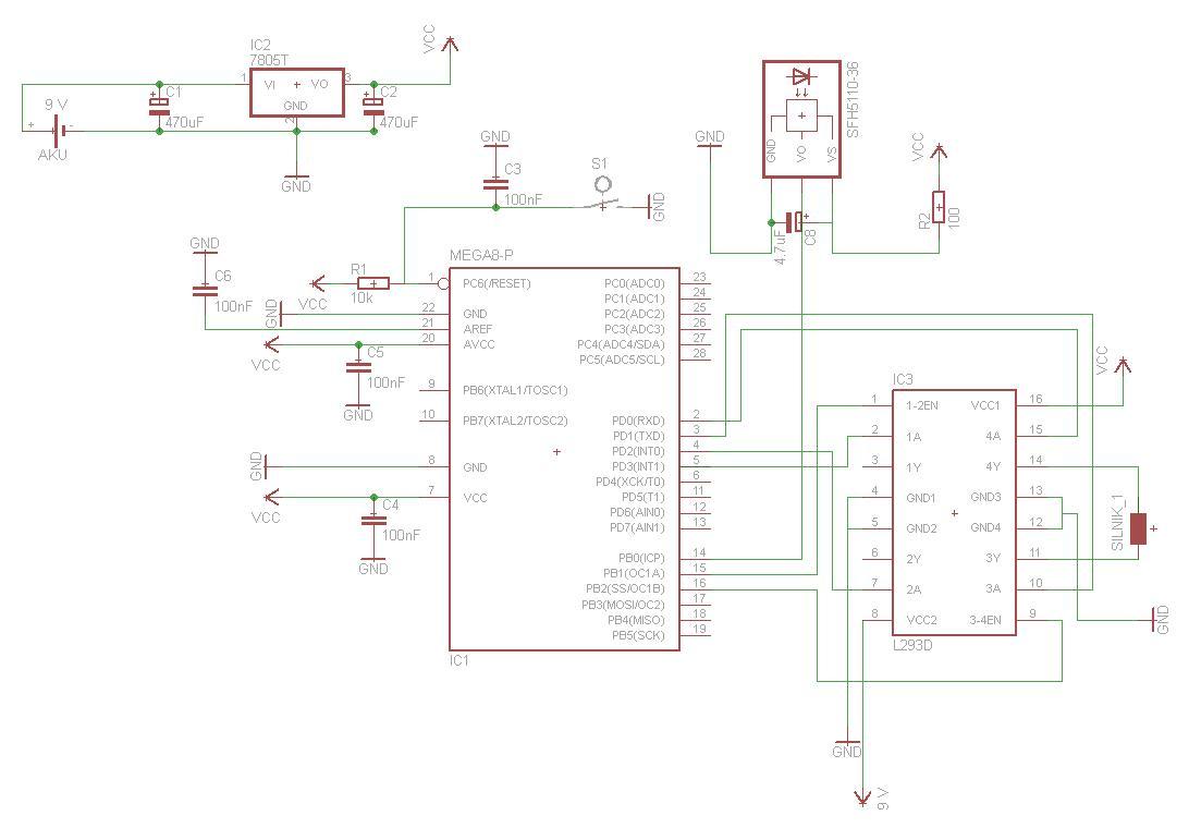 atmega8 sterowanie silnikiem schemat