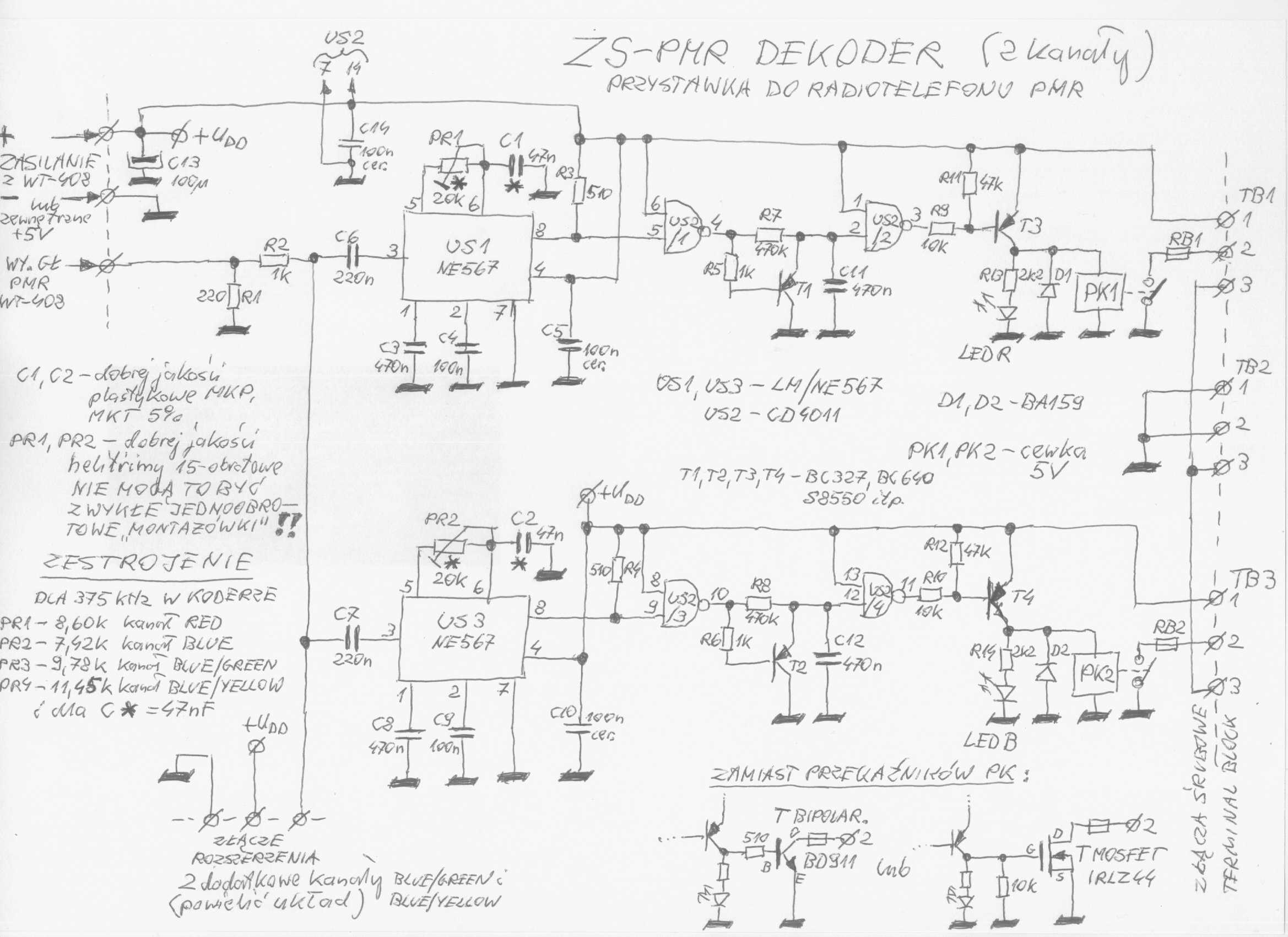 Sterowanie koder-dekoder-ne567 -