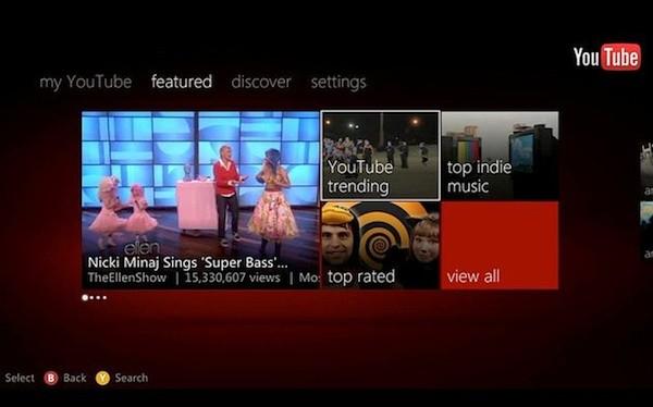 Aplikacja YouTube dla Xbox 360 z obs�ug� Kinect w fazie beta