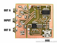 Multiplekser audio sterowany przez port USB