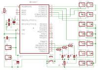 lcd - kwadraty, podłączenie LCD pod LPT.