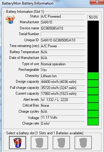 Acer aspire 5315, uszkodzona bateria ??