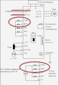 Silnik 3 fazowy na 1 fazie, zmiana kierunku obrotów w czasie