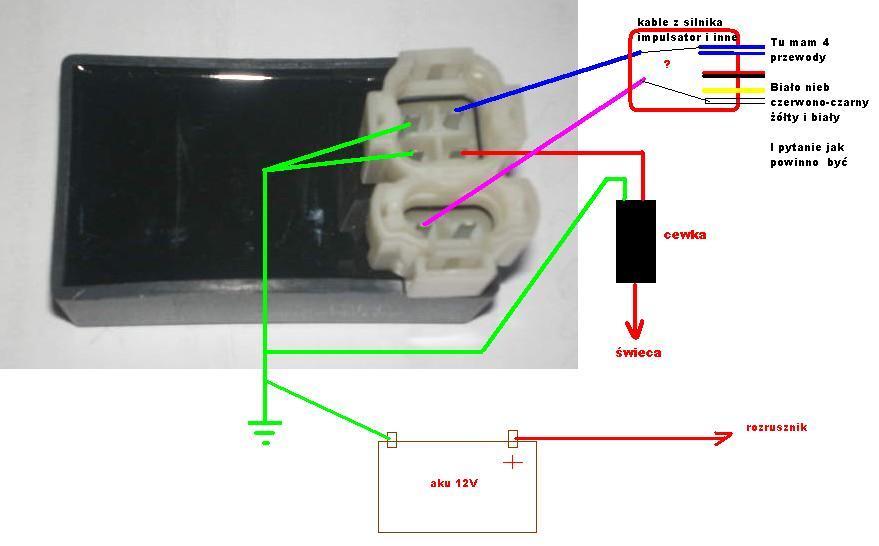 Kingway Speedy 50cm typ IH500T-6 - Schemat instalacji elektrycznej (brak iskry)