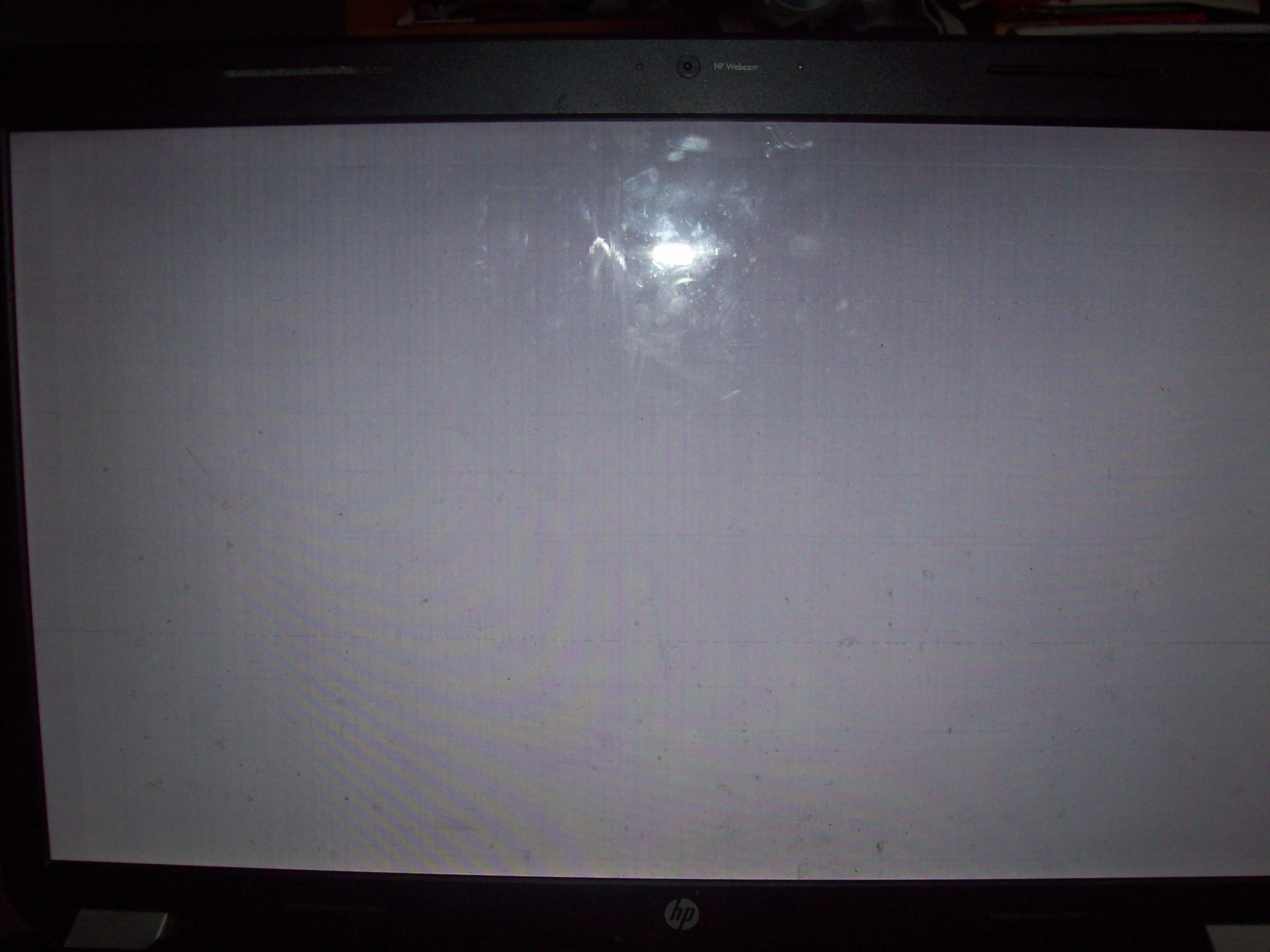 Hp g7 nieczytelny obraz tylko na ekranie, na monitorze ok.