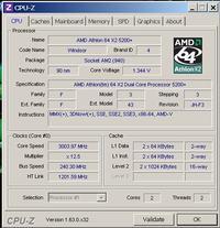 AMD Athlon 64 x2 5200 + Podkr�canie