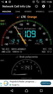 Słaby zasięg LTE na działce