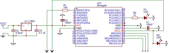 Atmega8 - prośba o sprawdzenie schematu