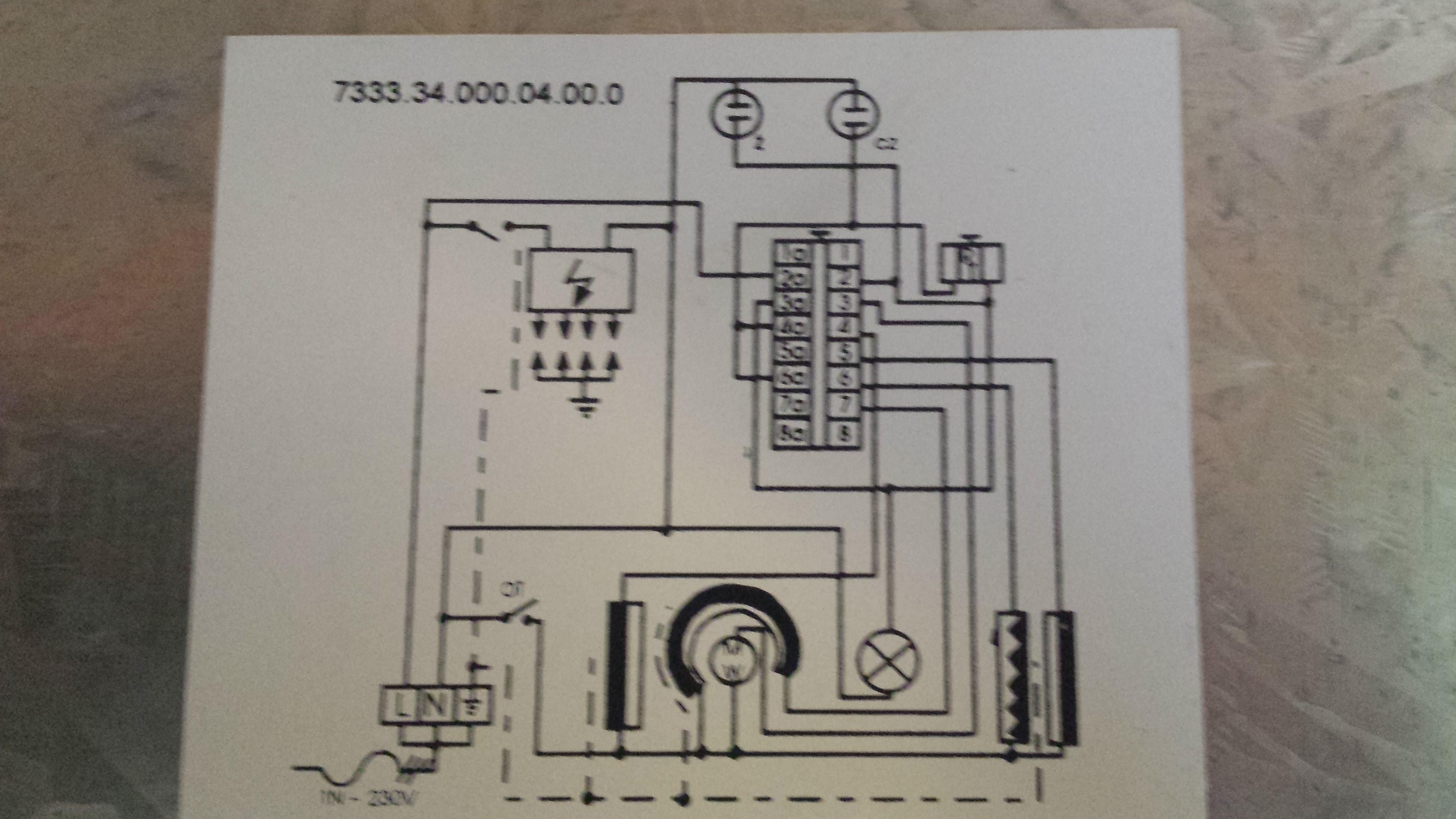 Schemat elektryczny kuchenki gazowo elektrycznej Mastercook 8703 -> Kuchnia Gazowo Elektryczna Mastercook Elegance