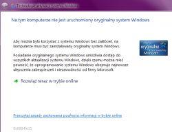 Windows 7 HP x64 - Komunikat o nieoryginalnym systemie