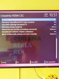 Zgemma h9s - Jak połączyć HDMI CEC z telewizorem Sharp Aquos LC-65UI7352E