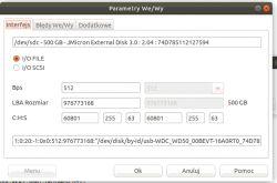 Kopia posektorowa uszkodzonego dysku w programie DMDE dla LInux