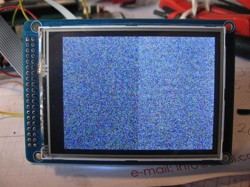 [Atmega32A] [C] LCD SSD1289  - szum po inicjalizacji