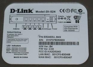 D-Link DI-524 - Rozłączanie sieci po upłaynięciu czasu dzierżawy adresu WAN