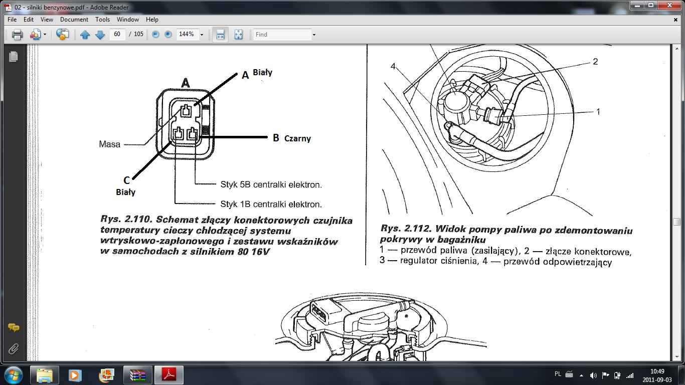 Zbyt bogata mieszanka i nier�wna praca silnika fiat brava 1.2 16V 2000rok