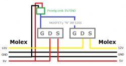 MOSFET jako włącznik dysku HDD