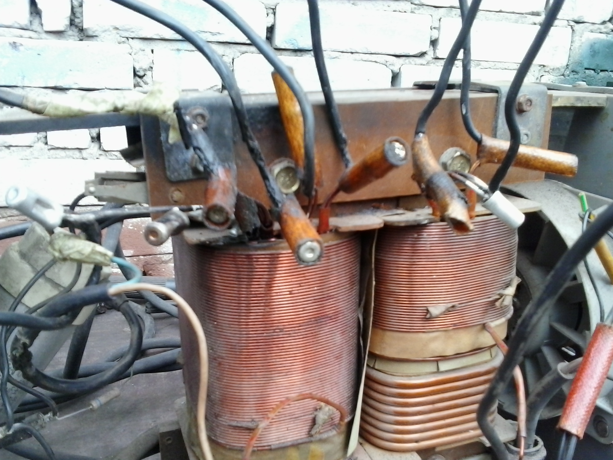 Spawarka 130A - spawarka bez prze��cznika, pod��czenie na kr�tko