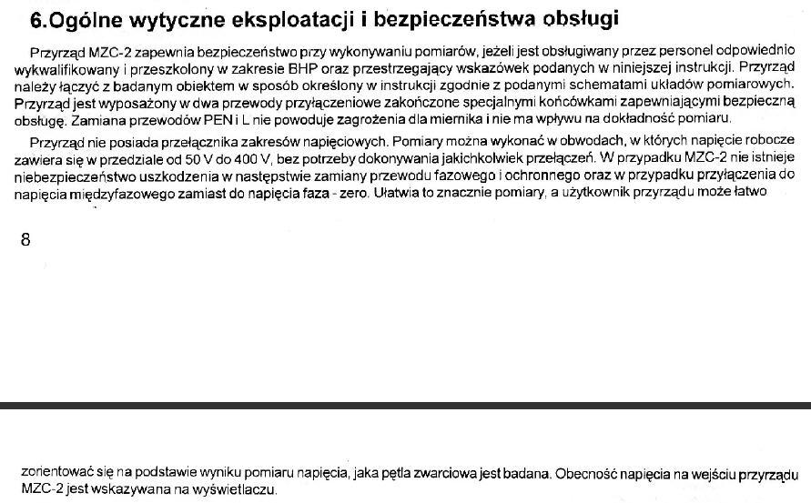 Pomiary SWZ miernikiem MCZ-2 sonel