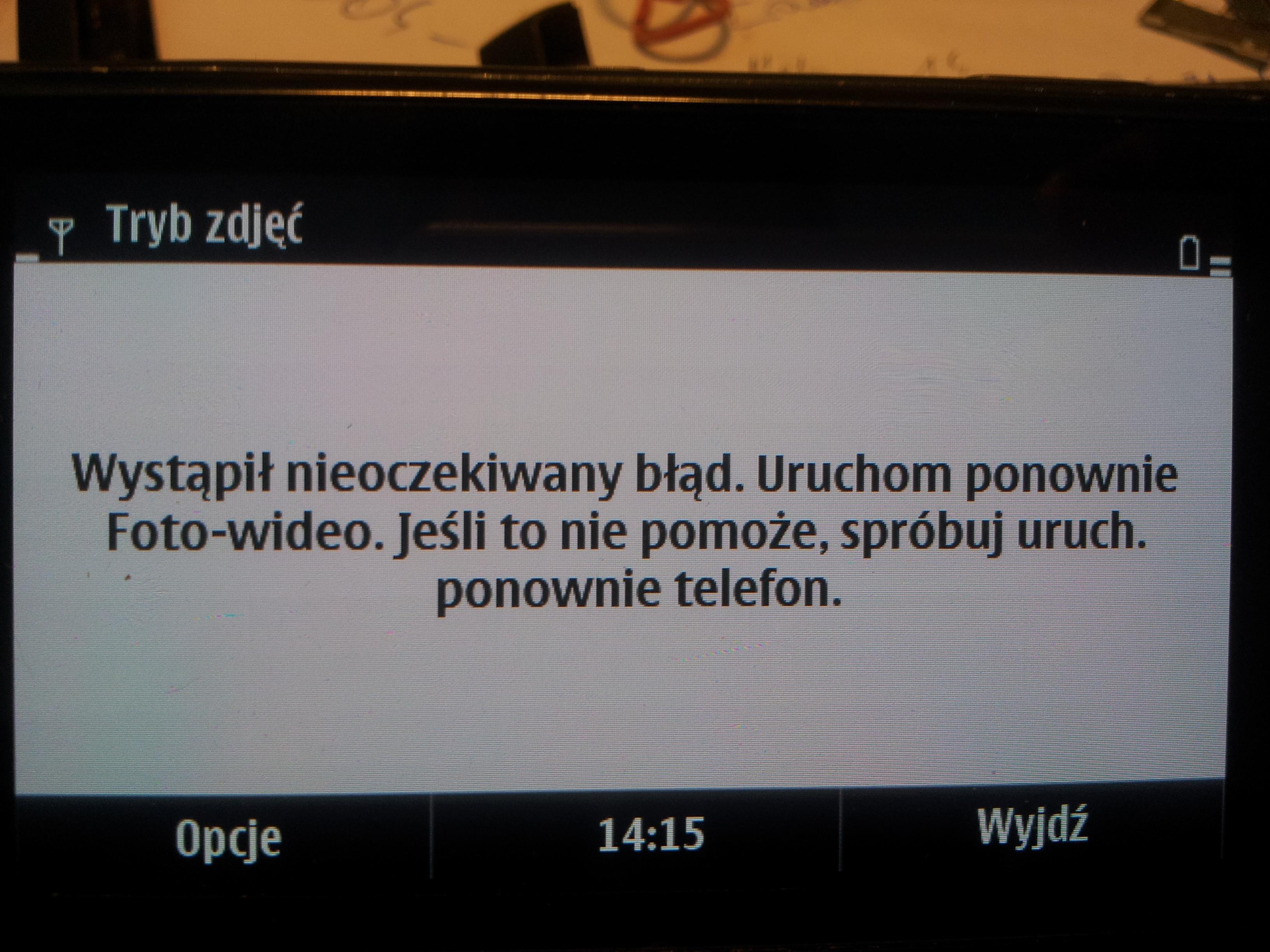 Nokia N8. - Nie dzia�a aparat.