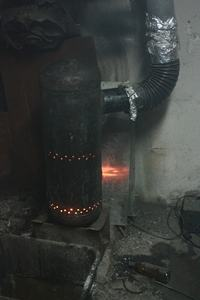 Kolejny piec na olej przepracowany by MG