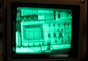 Analogowy oscyloskop jako monitor wy�wietlaj�cy kompozytowy sygna� wideo