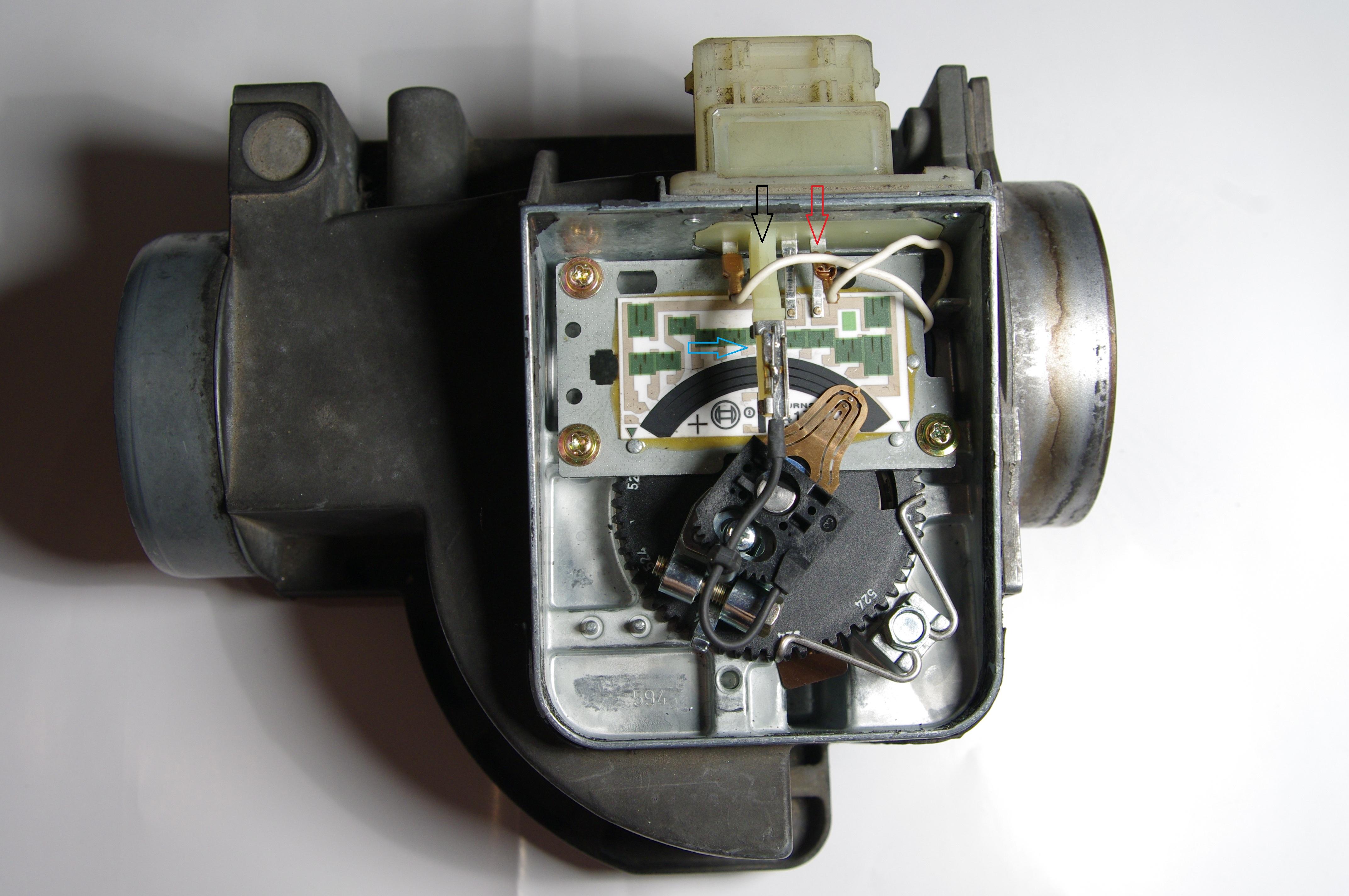 Naprawa przep�ywomierza klapkowego 4A0 133 471 Audi A6 C4