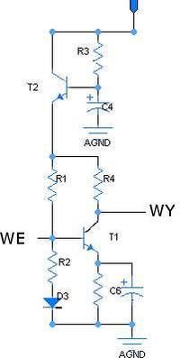 Tranzystor zasilający stopień wzmacniacza. Źródło prądowe? Stabilizator nap.?