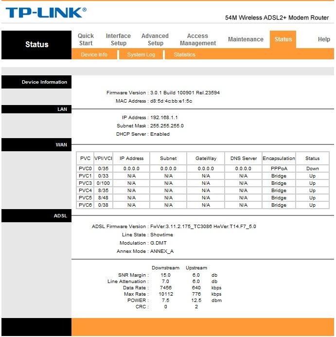 TP-LINK W8901G - T-Mobile , nag�y brak internetu.