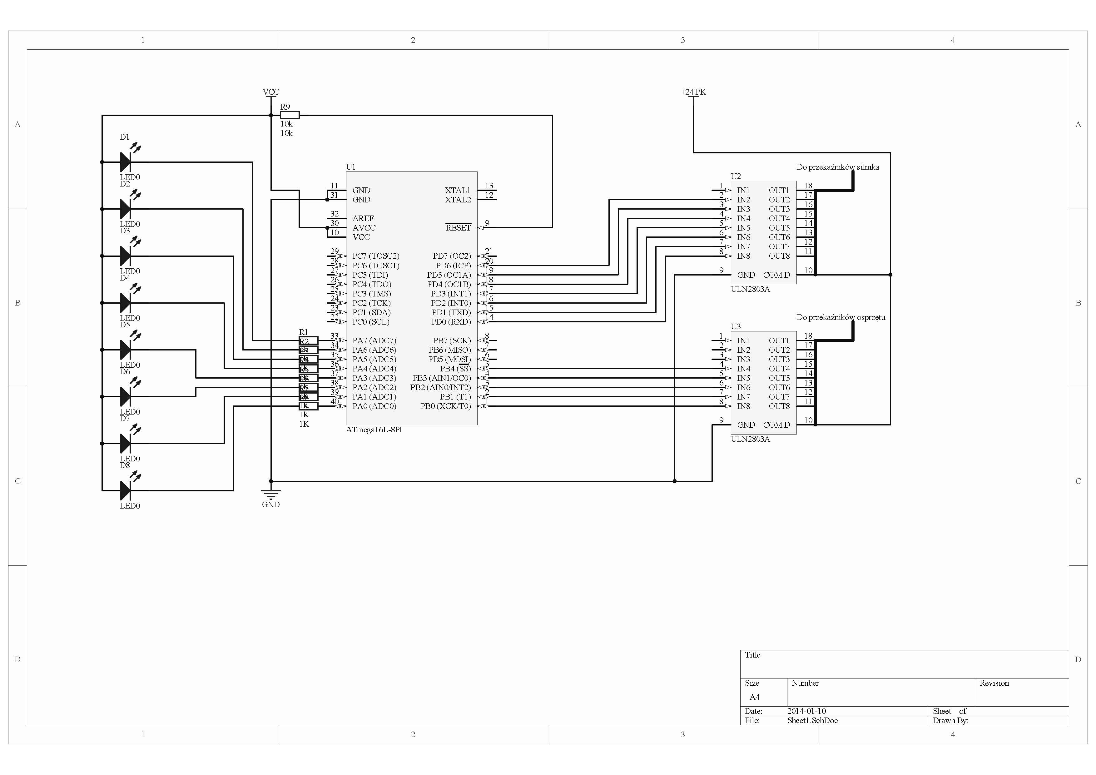 Polar PDN685 - Programator elektroniczny na atmega16