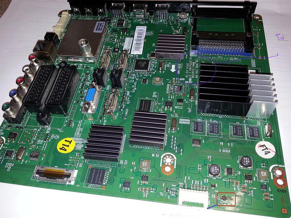 Samsung LE40C750 - Poszukiwany schemat p�yty Main BN94-003388A /B