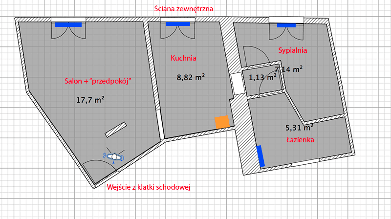 Dwufunkcyjny piec gazowy do ma�ego (40m2) mieszkania w starym budynku