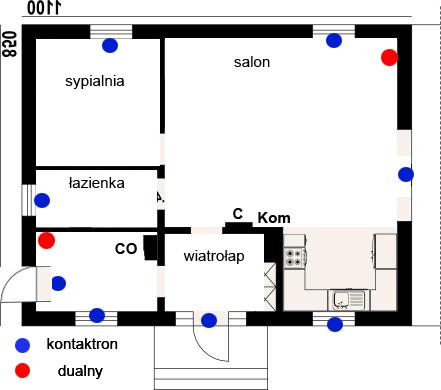 Schemat instalacji w domu jednorodzinnym - weryfikacja