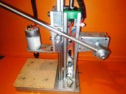 Wiertarka stołowa do PCB, konstrukcja własna.