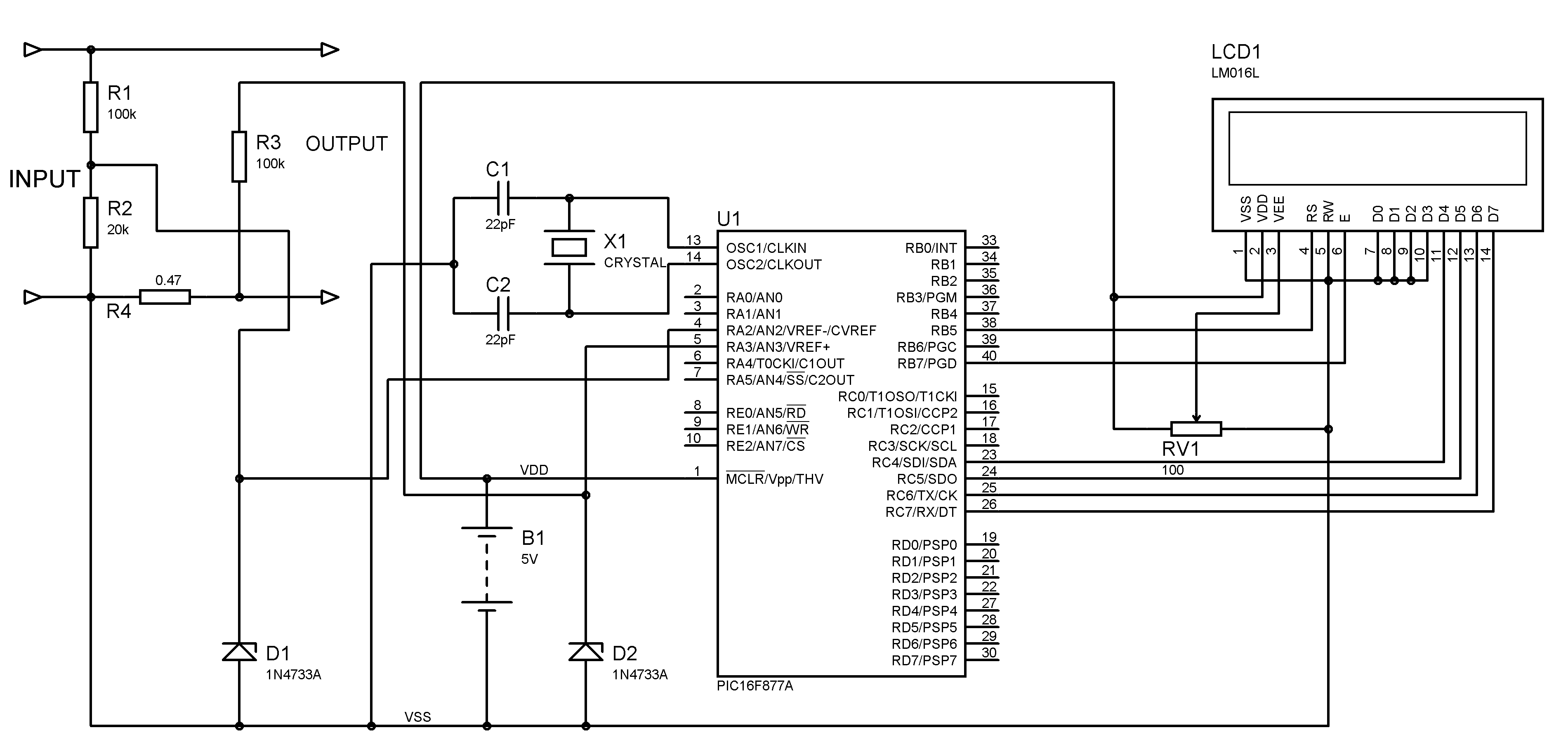 Adc Value Fluctuating In Pic Voltmeter And Ammeter Lcd