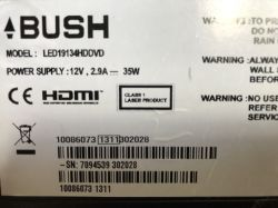 - BUSH: LED19134HDDVD flashing 5 times