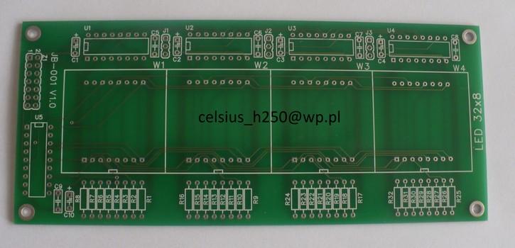 [Sprzedam] PCB do matrycowego wyswietlacza LED 32x8 - 4 matryce 8x8