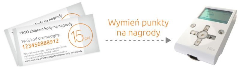 """""""YATO zbieram kody na nagrody"""" - akcja promocyjna Montersi.pl"""