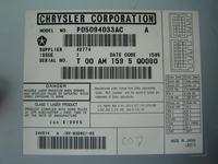 Wejście aux (od tyłu) w zmieniarce płyt Chrysler
