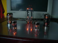 Atrapa wzmacniacza lampowego