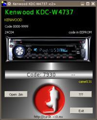 Kenwood KDC-W4737U wyliczenie kodu