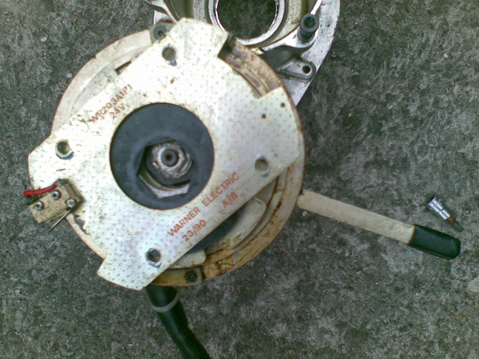 Silnik elektryczny od w�zka inwalidzkiego- praca bez hamulca elektromagnetyczny