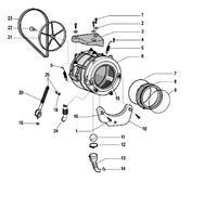 Ariston Hotpoint WMD 843 - wymiana łożysk