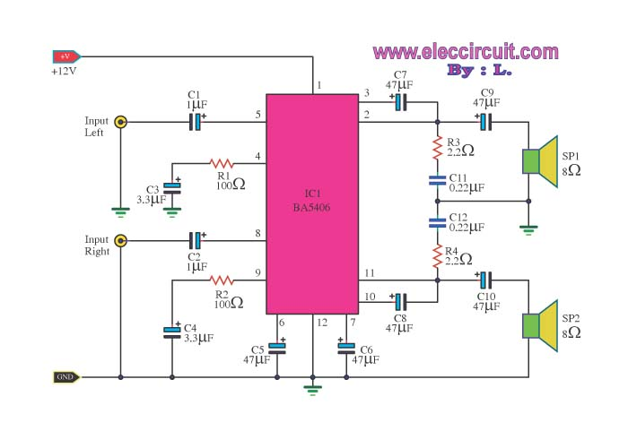 Audio amplifier noise and volume control