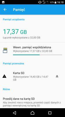 LG K40S - Brak możliwości przeniesienia aplikacji na kartę sd