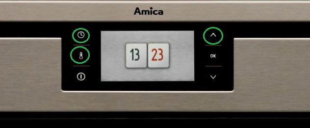 Piekarnik Amica 1143.4TfYDbOQVJXSp (EBI 810 74) - tryb demo