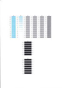 Canon MG7150 - Rozjechany wydruk pionowych kresek